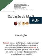 oxidação da maçã. slides