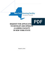 The RFA For Commercial Casino Applicant