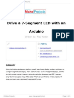 Drive a 7 Segment LED With an Arduino