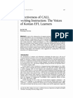 Suh, J. S. Effectiveness of CALL Writing Instruction_The Voices of Korean EFL Learners