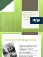 Intervención en abuso sexual infantil y adolescente