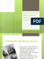 Intervención en abuso sexual infantil y adolescente