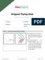 Origami Flying Disk