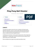 Ping Pong Ball Shooter