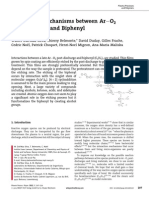 Interactions between an Ar-O2 post-discharge and biphenyl