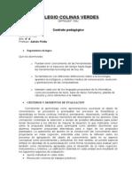 Contrato Pedagogico 2013