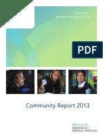 Allina Health EMS Community Report 2013