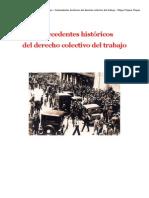 1 Antecedentes Histc3b3ricos Del Derecho Colectivo Del Trabajo