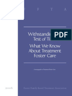 What We Know About Treatment Foster Care