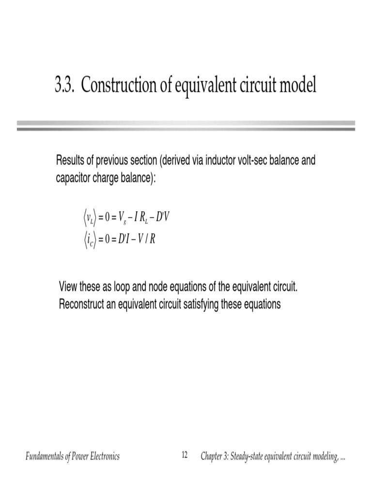 Sect 33 Construction Of Equivalent Circuit Model Find The Thvenin With Respect To Capacitor