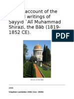 A Brief Account of the Life and Writings of Sayyid Ali Muhammad Shirazi, the Báb