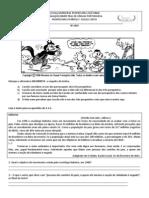 AVALIZAÇÃO BIMESTRAL 1 8ANO