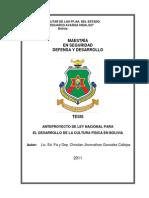 Anteproyecto de Ley Nacional Para El Desarrollo de La Cultur