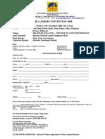 MIEA Johor Convention 2009 Registration Form