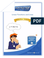 Linear Functions and Lines Solutions
