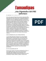 27-03-2014 Hoy Tamaulipas - Rendirán Diputados del PRI informes.