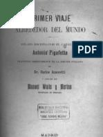 Antonio Pafagetta - primer vaje alrededor mundo