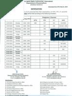 Date Sheet (Attc_ Ct_ Ptc & b.ed) Aut-2013