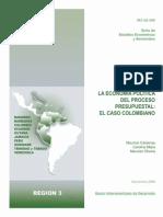 La economía política del proceso presupuestal- El caso de Colombia