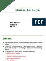 Efisiensi Solar Cells