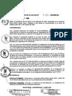 RESOLUCION DE ALCALDIA Nro° 132-2009/MDSA