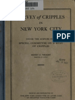 (1920) Survey of Cripples in New York City