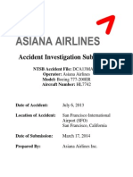 Asiana Airlines  Accident Investigation Submission