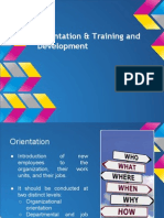 Orientation, Training & Development