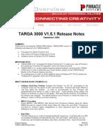 Targa 3Kv1.5.1 ReleaseNotes