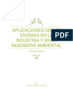 Aplicaciones de Las Enzimas en La Industria y en La Ingenieria Ambiental