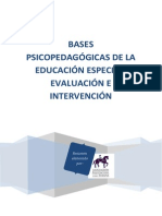 Evaluación e intervención en Educación Especial
