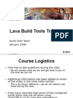 Lava Build Tools Training