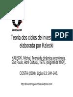 17 Teoria Dos Ciclos de Investimento Elaborada Por Kalecki