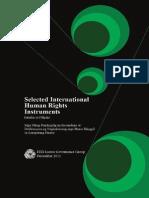 Selected International Human Rights Instruments (Mga Piling Pandaigdig na Kasunduan at Deklarasyon ng Nagkakaisang mga Bansa Hinggil sa Karapatang Pantao)