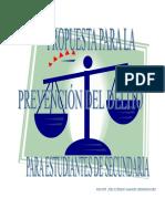 Programa de Prevencion Del Delito Para Estudiantes de Secund