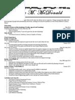 Katie McDonald's Resume