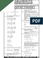 Ssc Mains (Maths) Mock Test-17 (Solution)