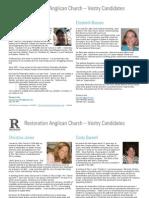 Restoration Vestry Candidates