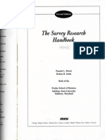 (the Survery Research Handbook Cap 01)