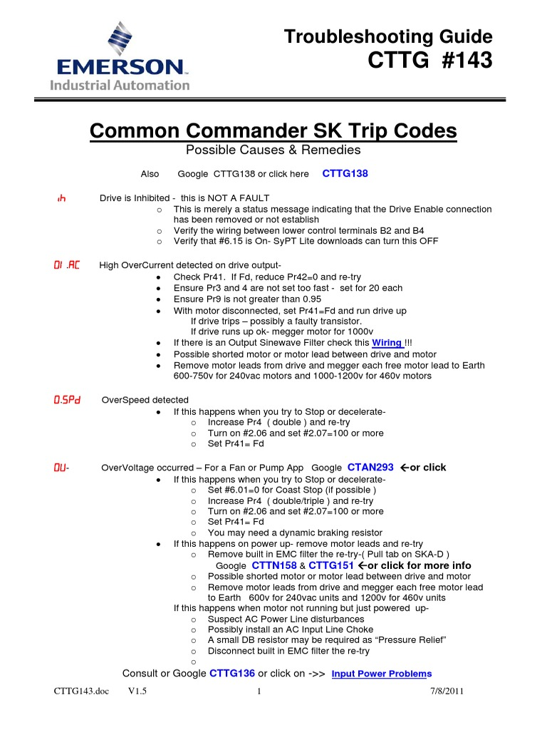 Manual pdf download sk emerson commander