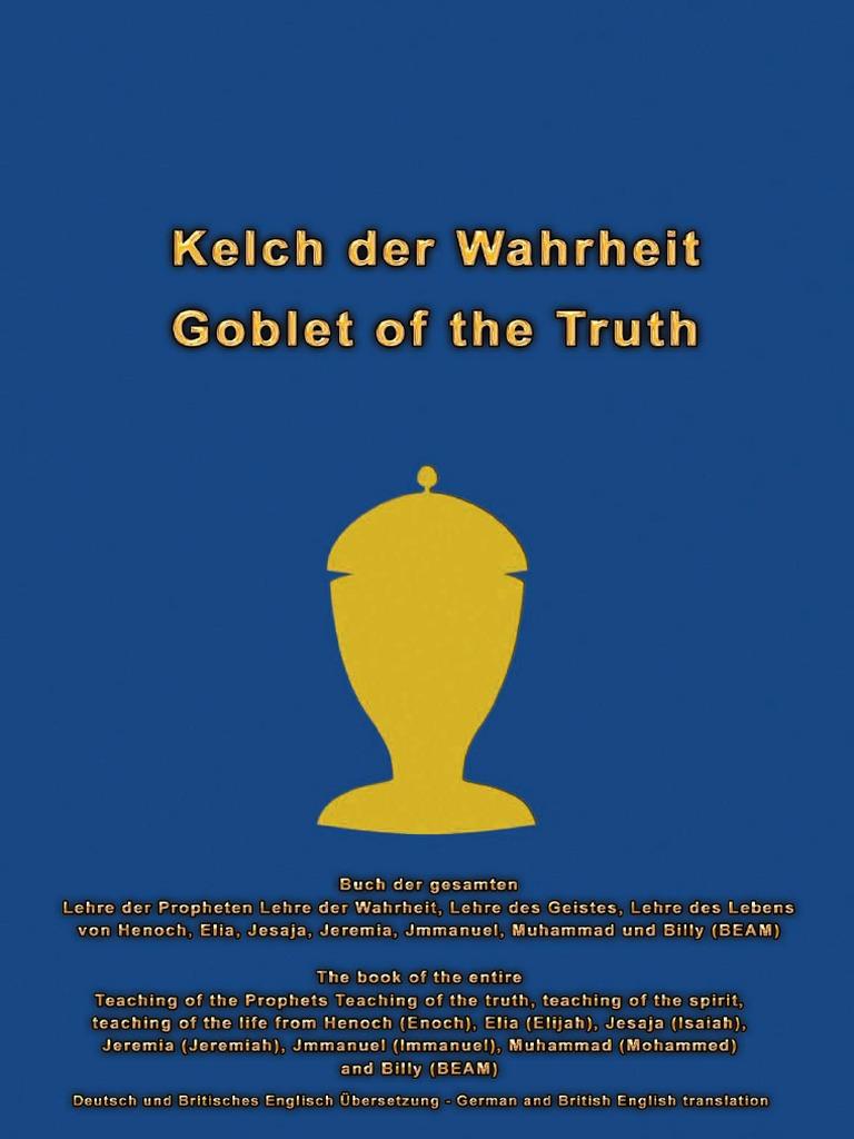 Goblet Of The Truth Kelch Der Wahrheit German British English