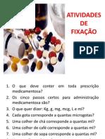 ATIVIDADES Sobre Farmacologia