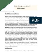 DBMS Case Studies CSE IVSem