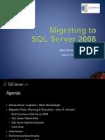 Migrating to SQL Server 2008