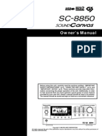 Roland SC-8850 Owner's Manual 2000