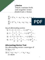 9.Alternating Series