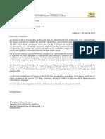 Modelo Carta de Solicitud de Cargo