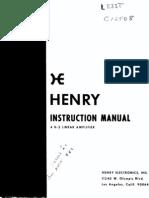 Henry 4K-2 RF Linear Amplifier