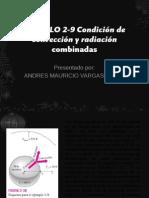 EJEMPLO 2-9 Condición de convección y radiación