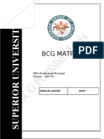 BCG Matrix MARKETING
